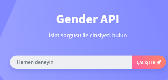 What is the Gender API for